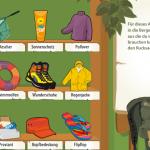 Packe deinen Rucksack im Junior-Ranger-Web-Spiel